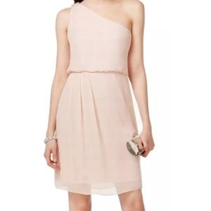 NWT Adrianna Papell Chiffon Blush PInk Dress